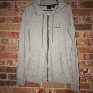 Armani Exchange Zip Up Hoodie L